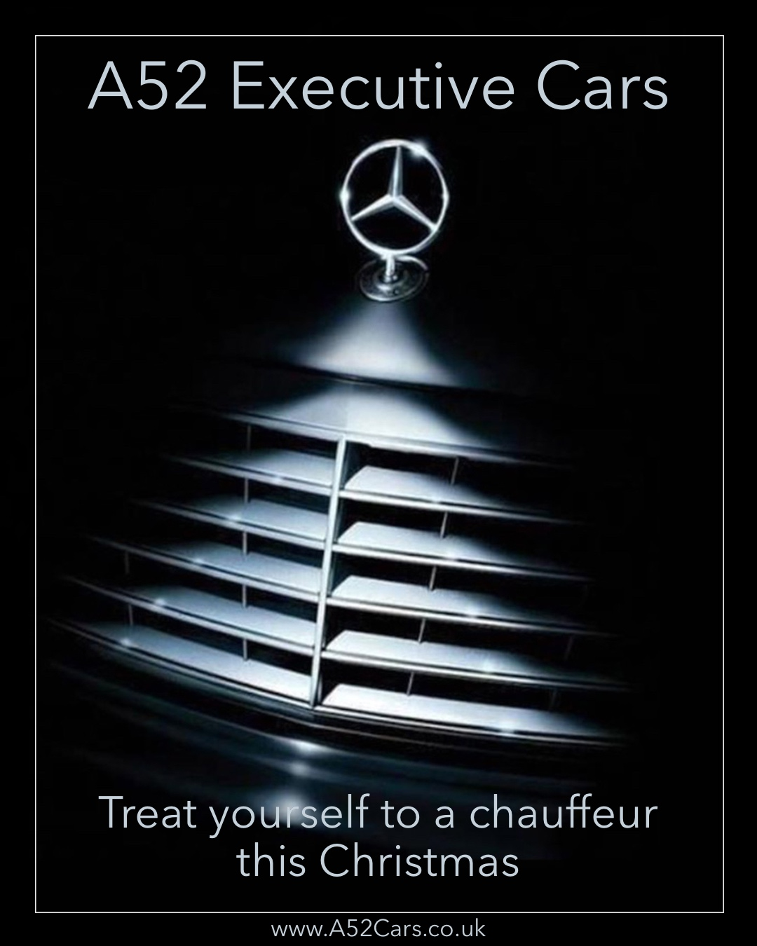 Mercedes Christmas Chauffeur Hire in Derby