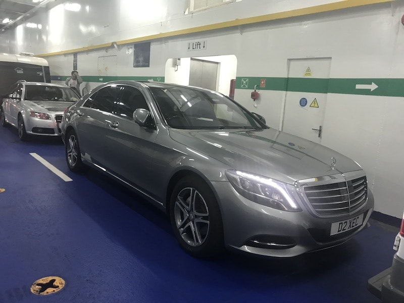 Mercedes S Class chauffeur car from Derby to Austria