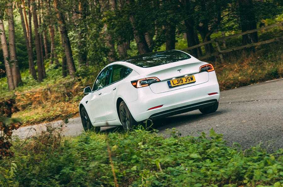 Tesla Available for Chauffeur Hire in Derbyshire