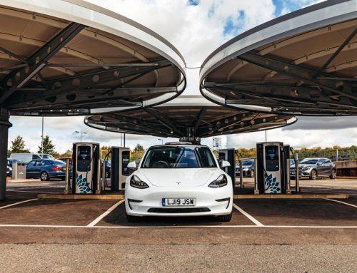 Zero Emission Tesla Chauffeur Travel in Derby
