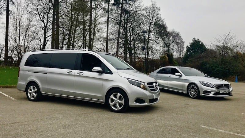 Draycott Airport Transfer in our Mercedes S Class and V Class minibus