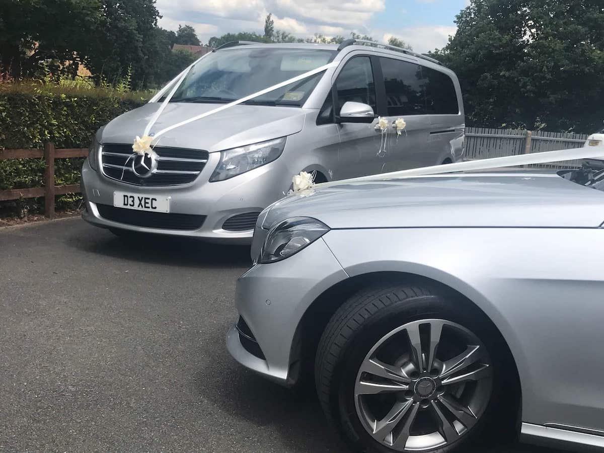 Mercedes V Class and E Class Wedding Cars in Derby