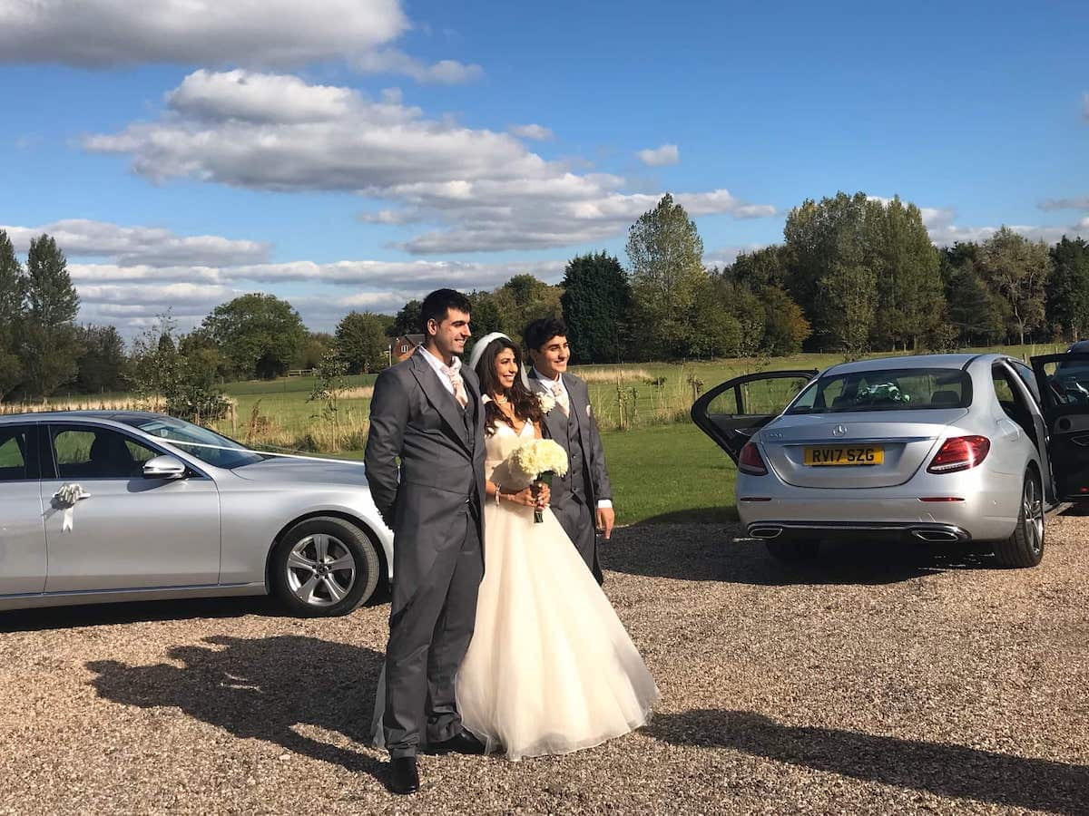 Mercedes E Class at a recent wedding A52 Executive Cars did in Melbourne, Derbyshire