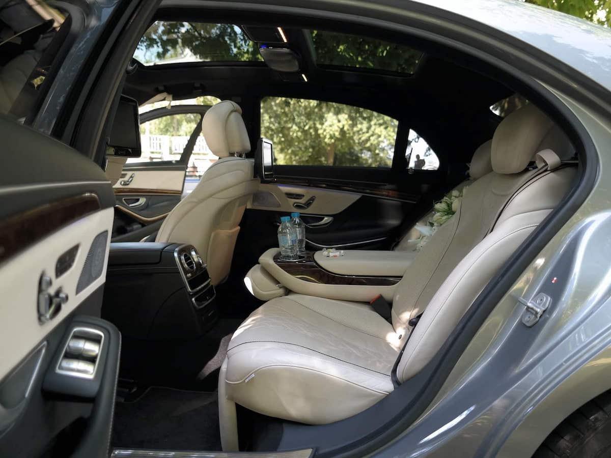 Mercedes S Class wedding car interior