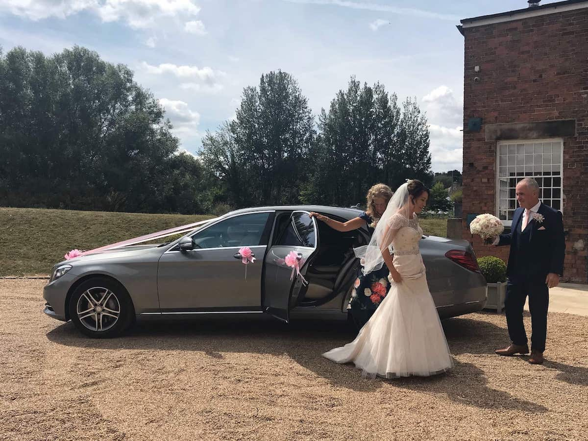 Mercedes S Class with Bride in Derby