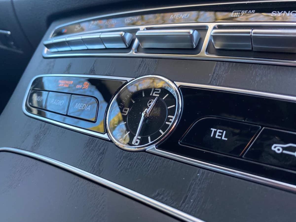 New Mercedes E Class Chauffeur Car in Derby Clock
