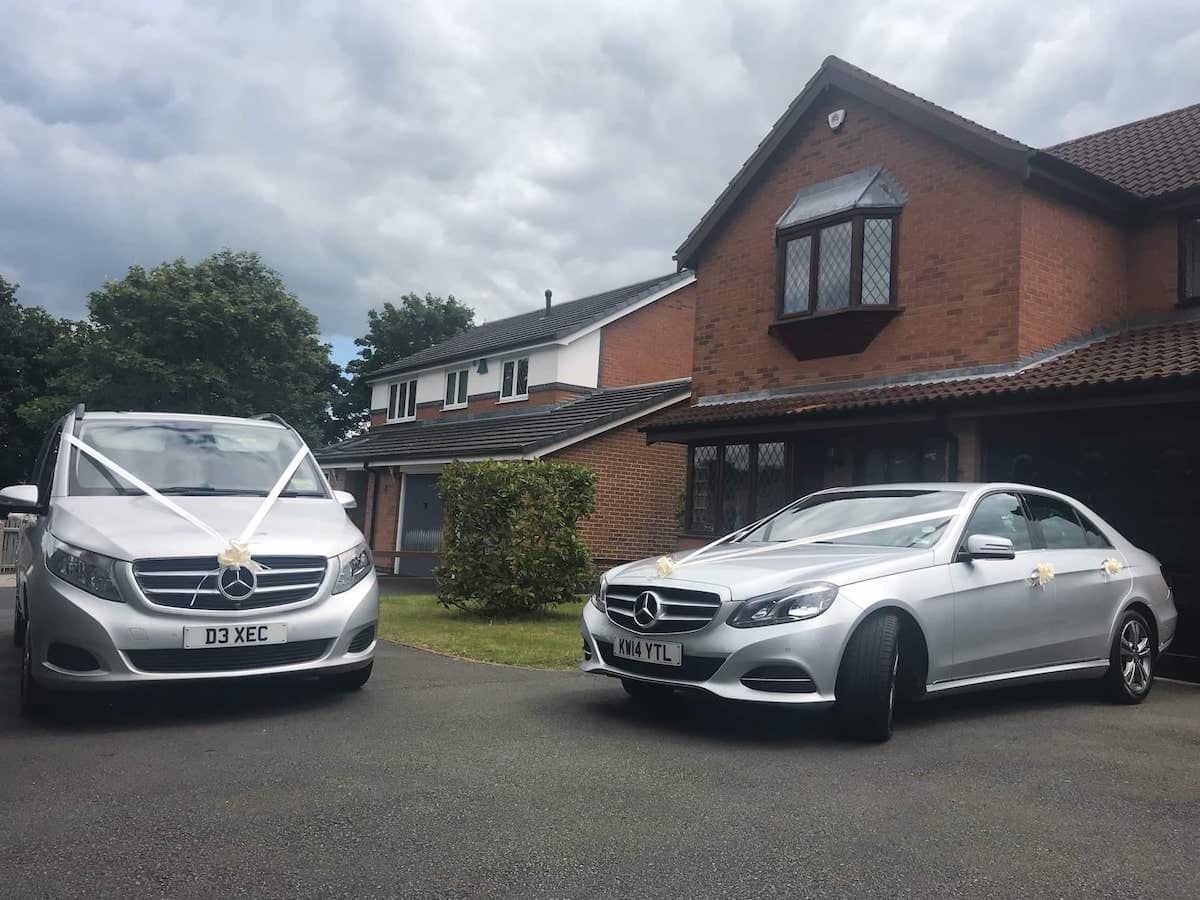 Mercedes E Class and V Class Wedding Chauffeur Car in Derby