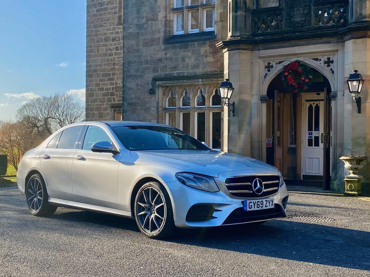 Mercedes E Class Chauffeur Car at Breadsall Priory Hotel in Derby