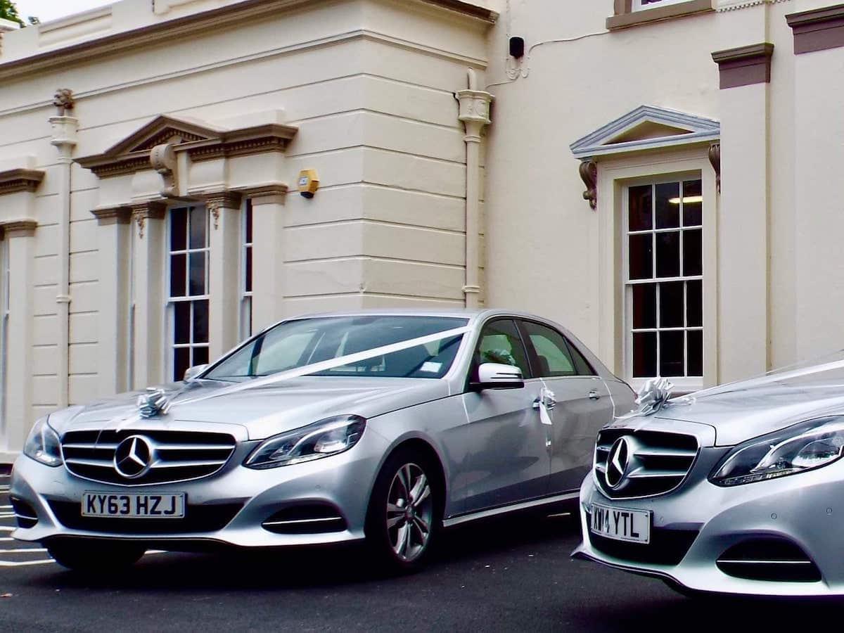 Mercedes E Class Wedding Chauffeur Car in Derby