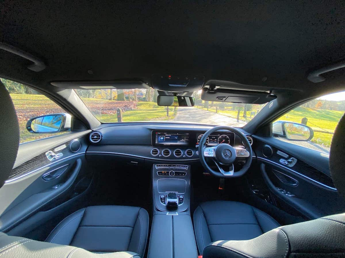 Mercedes E Class InteriorChauffeur Car in Derby