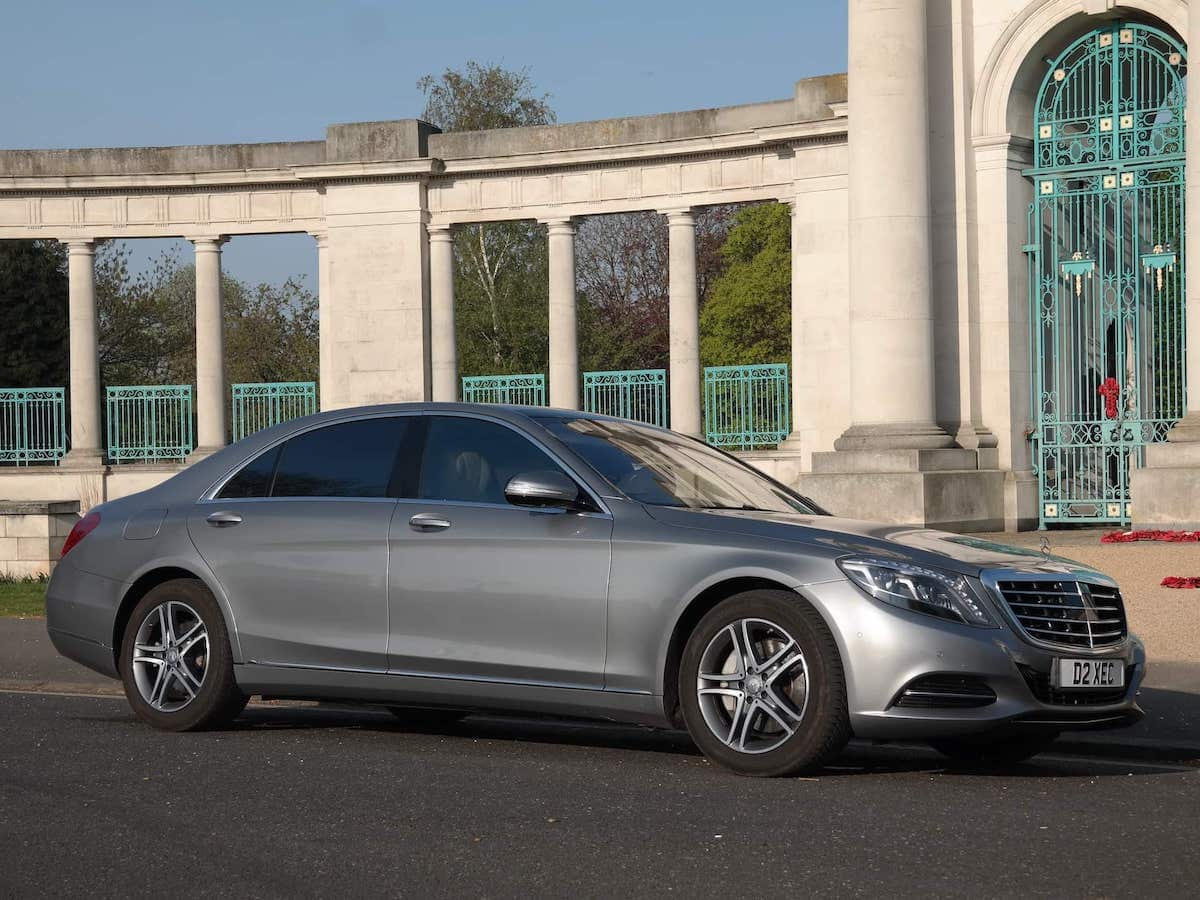 Our Mercedes S class on Chauffeur hire in Nottingham