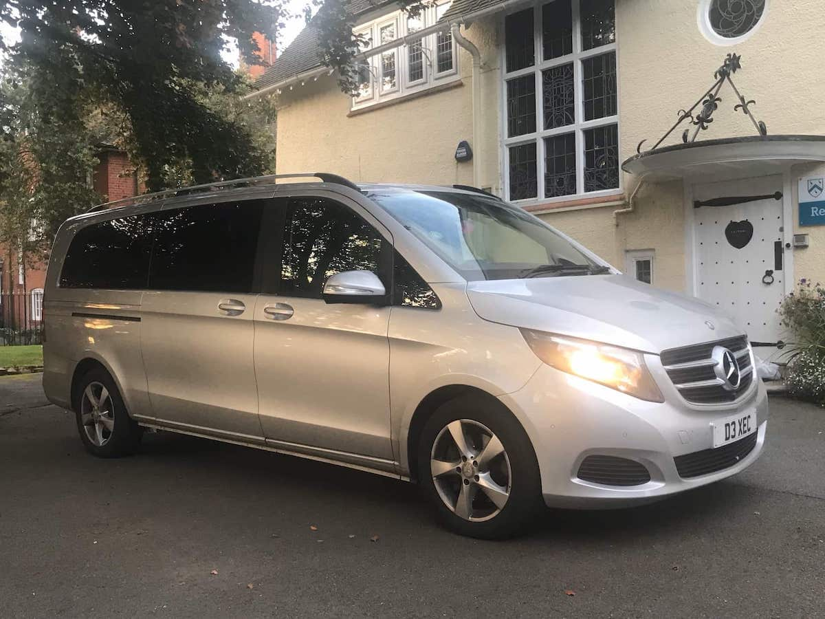 Holiday Transfers from Derby in comfort with our VIP Mercedes V Class