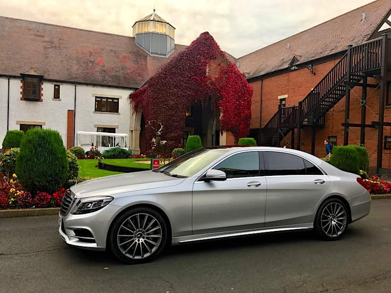 Our Mercedes S Class Chauffeur car dropping of Restaurant Diners