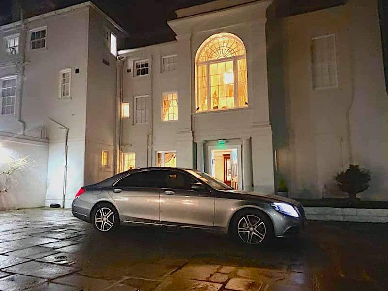 Mercedes S Class Chauffeur Service for holiday travel from Derby