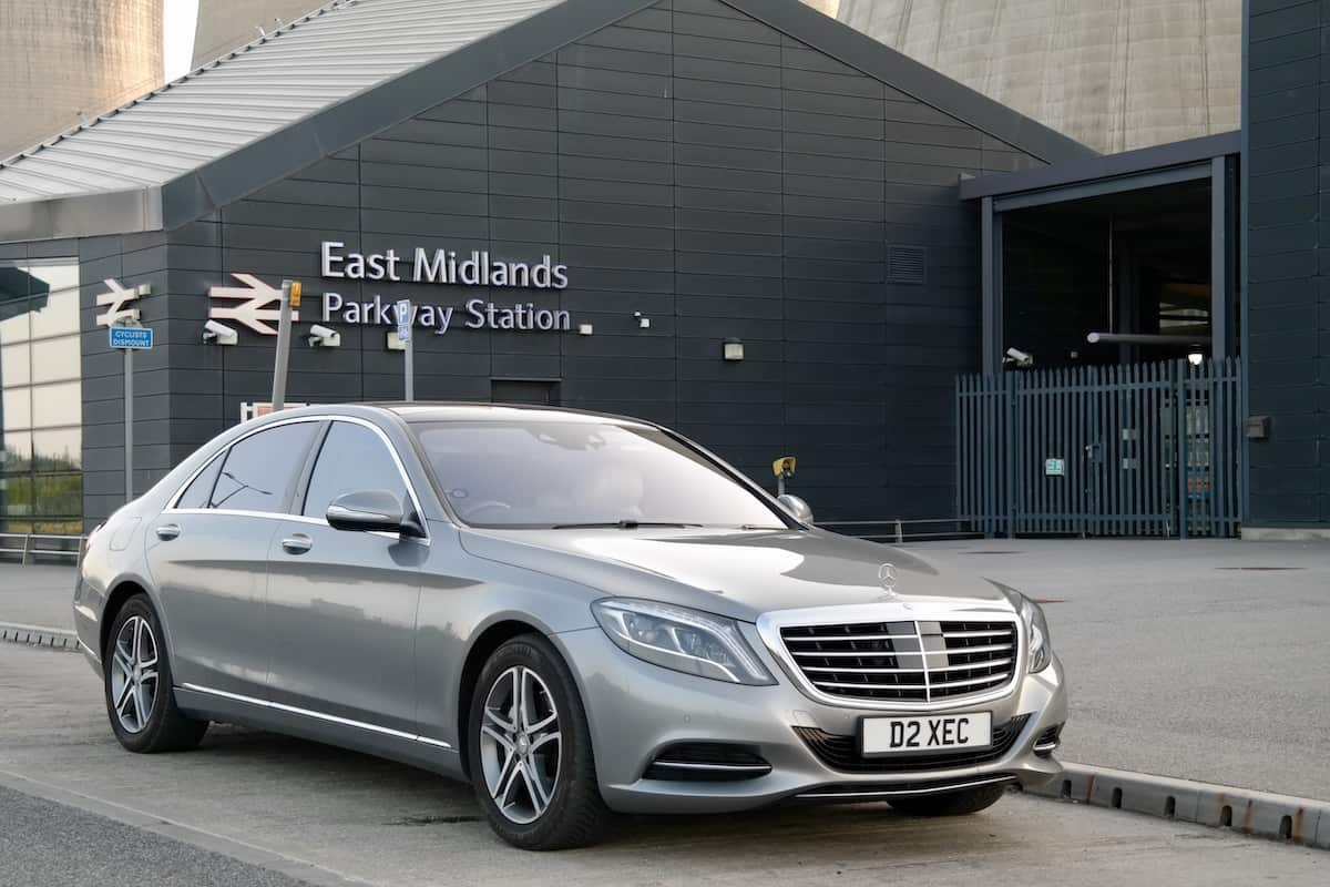 Our Mercedes S Class on a business transfer to derby from East Midlands Parkway