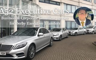 Our fleet lines up outside a Derby business